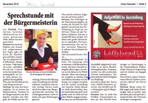 Artikel in Unser Seevetal, November